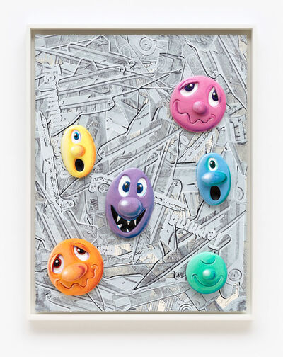 Kenny Scharf, 'Face Facts #17', 2014
