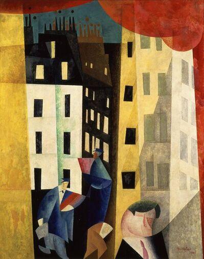 Lyonel Feininger, 'Architecture II or l'homme de potin', 1921