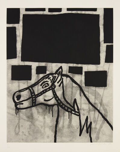 Donald Baechler, 'Horse, from Increments', 1987