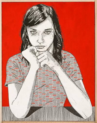 Jason Andrew Turner, 'she (red)', 2016