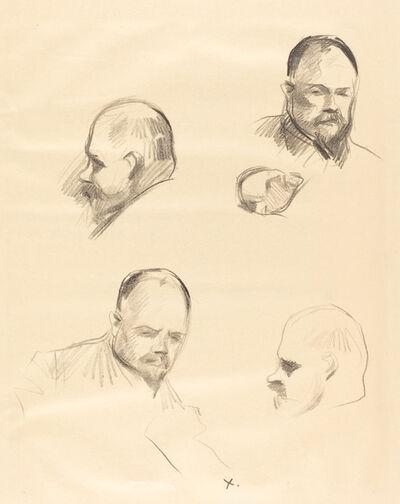 Jean-Louis Forain, 'Four Sketches of Ambroise Vollard', ca. 1910
