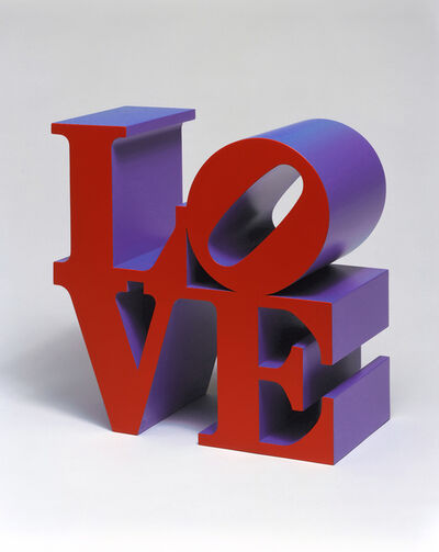 Robert Indiana, 'LOVE (Red/Violet)', 1966-1999