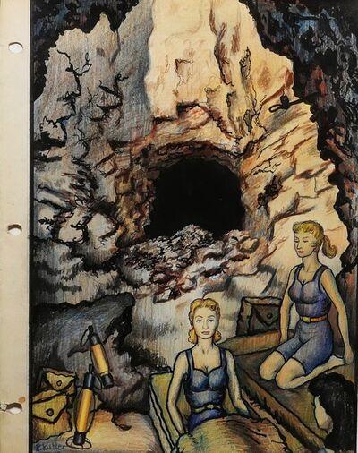 Renaldo Kuhler, 'Arlene Dalherson & Lisa Smörgesholm Camping in Abandoned Mine', 1960