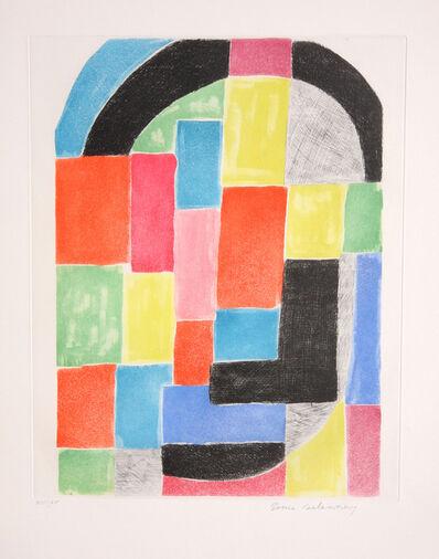 Sonia Delaunay, 'Composition with Black Arc', ca. 1970