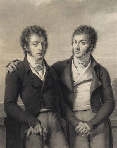 Louis-André-Gabriel Bouchet, 'Portrait of the twin brothers César and Constantin Faucher (1760-1815)'