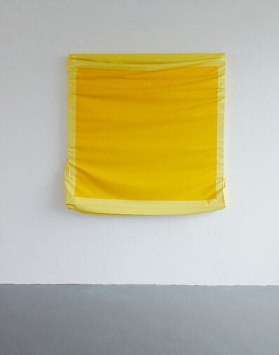 Angela de la Cruz, 'Layers - Large (Cadmium Yellow/ Light Yellow)', 2019