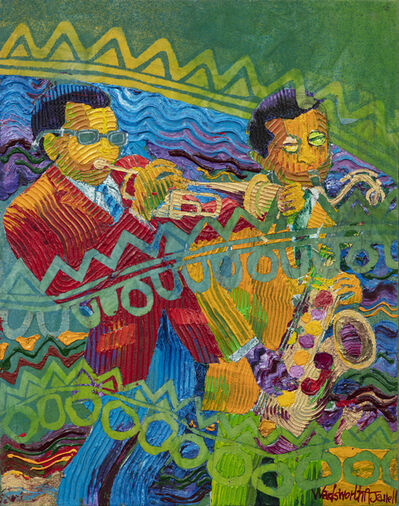 Wadsworth Jarrell, 'Miles and Wayne', 1998
