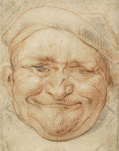 Jacob Jordaens, 'Head of a Cheerful Man Wearing a Cap', 1640-1660