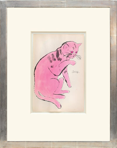 Andy Warhol, 'Sam. [Sitting pink cat with red eyes.]', 1954