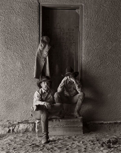 Jay Dusard, 'Jim and Jason Eicke, Bell Ranch, New Mexico', 1981
