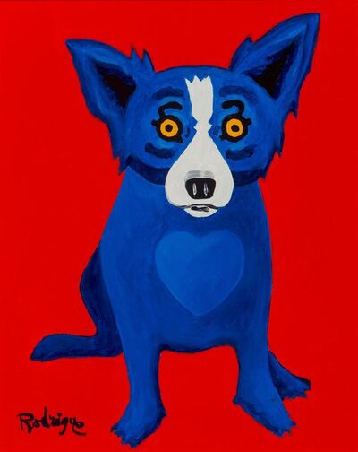 George Rodrigue, 'With a Warm Heart', 1998