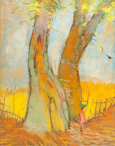 Gopal Ghose, 'Two trees', 1962