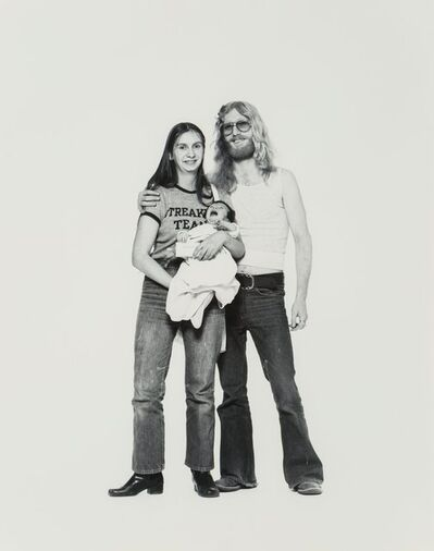Elliott Erwitt, 'Hippie Couple and Child, Corning, New York'