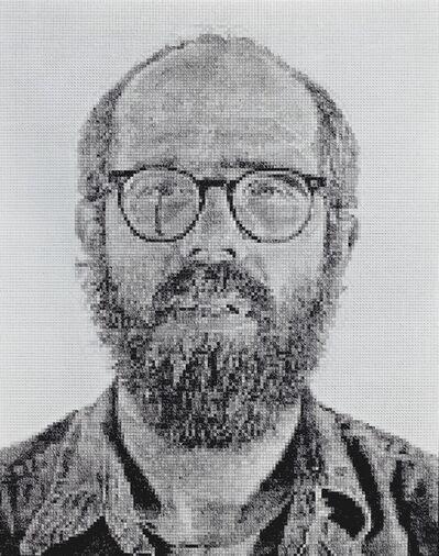 Chuck Close, 'Self-Portrait/White Ink', 1978