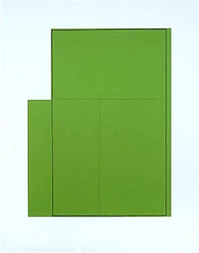 Robert Mangold, 'Rectangle within Three Rectangles (Green)', 1980