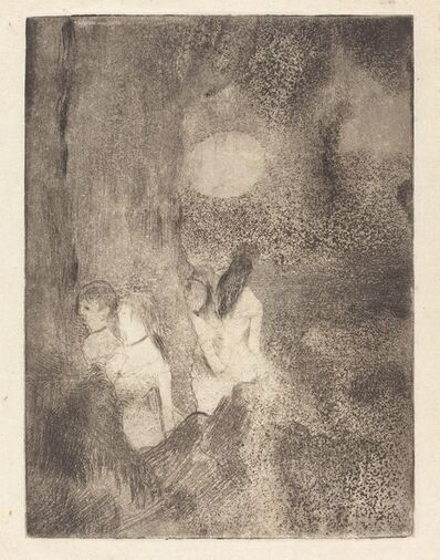 Edgar Degas, 'Dancers in the Wings (Danseuses dans la coulisse)', ca. 1877