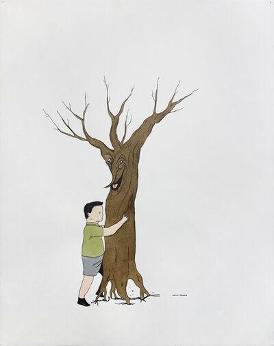 Marcel Dzama, 'UNTITLED (Boy Hugging Tree)', 2000-1