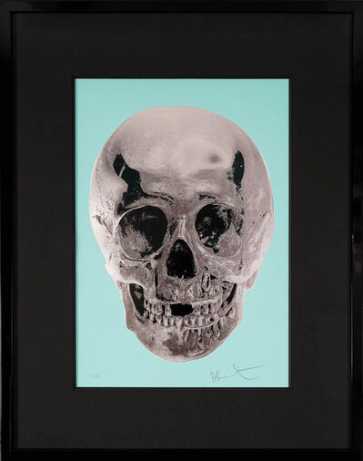 Damien Hirst, ''Till Death Do Us Part, Skull, Aqua/Silver', 2012