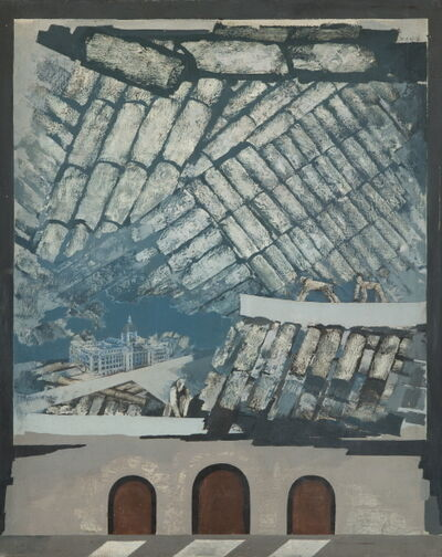 Jang Sup Son, 'Looking Through History - Gwanghwamun', 1981