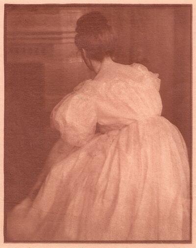 Heinrich Kühn, 'Miss Mary in Evening Costume [Pictorialism]', ca. 1908