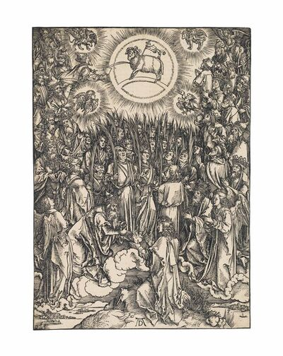 Albrecht Dürer, 'The Adoration of the Lamb, from: The Apocalypse (B. 67; M., Holl. 176; S.M.S. 124)', ca. 1496-97