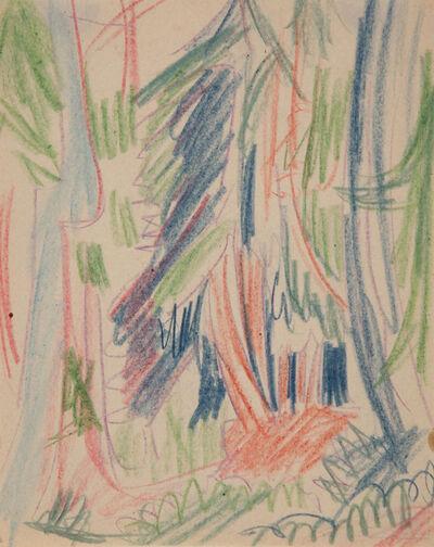 Ernst Ludwig Kirchner, 'Tannenwald (Forest)', 1925