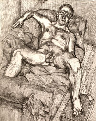 Lucian Freud, 'Man Posing', 1982