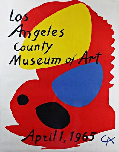 Alexander Calder, 'Los Angeles County Museum of Art (LACMA) Rare Lithographic Poster', 1965