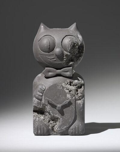 Daniel Arsham, 'Ash Eroded Cat Clock', 2013