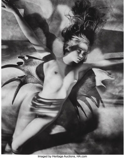 George Holz, 'Claire with Moosewings, New York', 1986