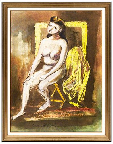 Aaron Bohrod, 'Aaron Bohrod Gouache Original Painting Signed Female Figurative Illustration Art', 20th Century