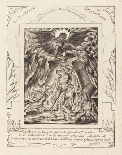 William Blake (1757-1827), 'The Destruction of Job's Sons', 1825