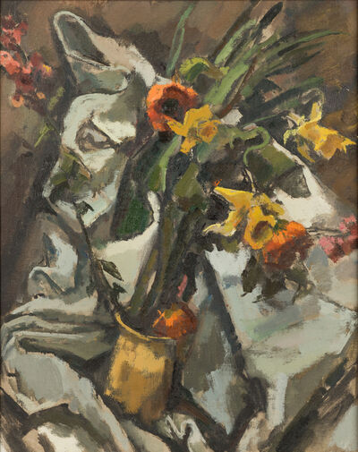 Herbert Barnett, 'Still Life with Daffodils and Poppies'