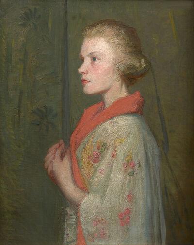 Julian Alden Weir, 'Woman in a Kimono', ca. 1910