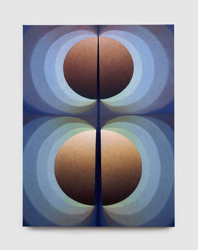 Loie Hollowell, 'Split orbs in blue, green and orange', 2020