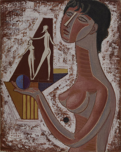 Mario Tozzi, 'Nudino E Composizione', 1970