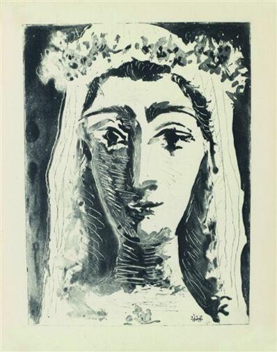 Pablo Picasso, 'Jacqueline en Mariée, de face I (1st state of 18)', 1961