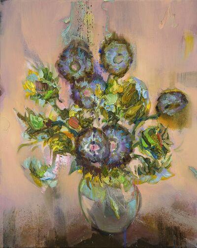 Mathieu Laca, 'Blue Sunflowers', 2020
