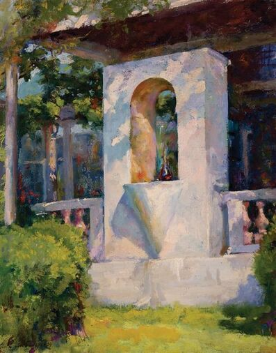 Luigi Lucioni, 'Crystal Fountain and Loggia at Laurelton Hall', 1925