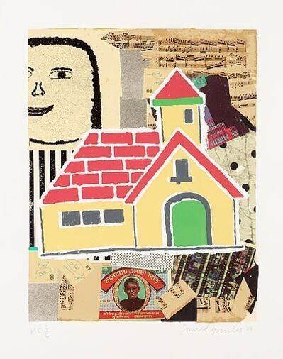 Donald Baechler, 'Yellow House', 2001