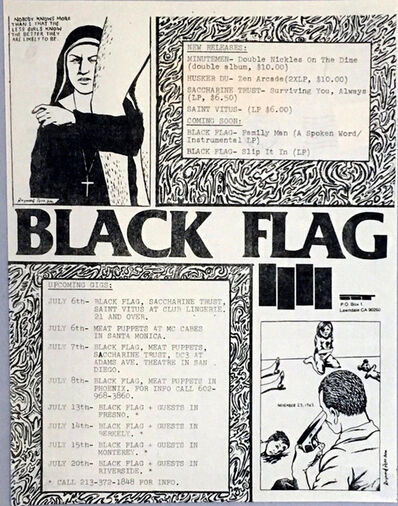 Raymond Pettibon, 'Raymond Pettibon illustrated Punk flyer', 1984
