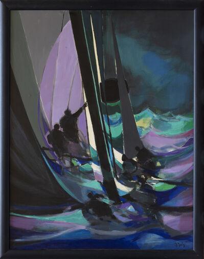 Marcel Mouly, 'Les Yachtmen de la nuit', 1988