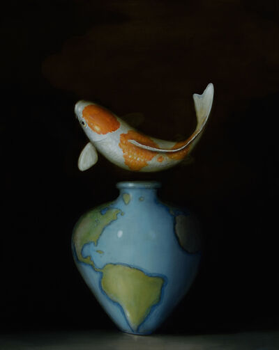 David Kroll, 'Koi and Map Vase', 2017