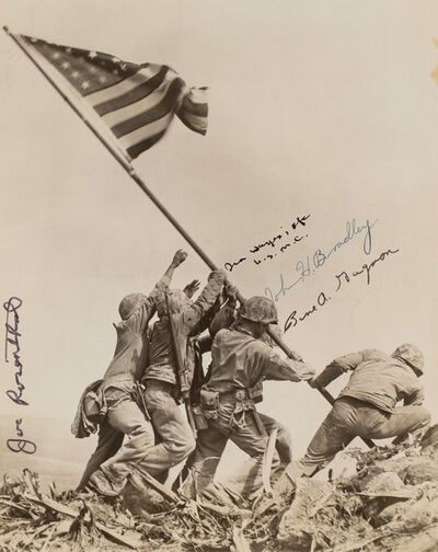 Joe Rosenthal, 'Raising the Flag on Mt. Surbachi, Iwo Jima', 1945