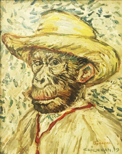Ilya Chichkan, 'Homage to Vincent Van Gogh «Self portrait in a straw hat» ', 2019