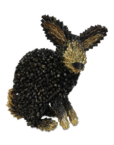 Federico Uribe, 'Black Rabbit, Gold Ears & Tail', 2017