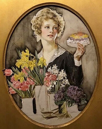 Joseph Christian Leyendecker, 'Study for Saturday Evening Post Cover, Easter Edition', 1919