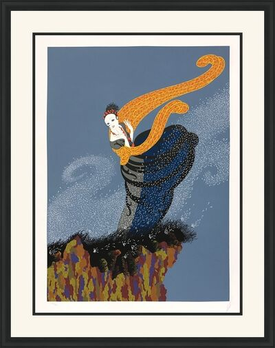 Erté (Romain de Tirtoff), 'SUMMER BREEZE', 1978
