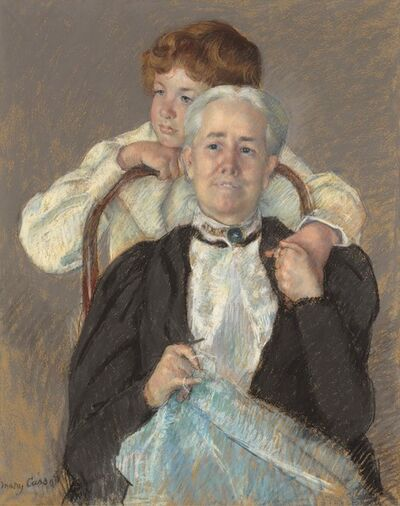 Mary Cassatt, 'Portrait of Mrs. Cyrus J. Lawrence with Her Grandson R. Lawrence Oakley', ca. 1898