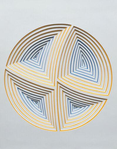 Elizabeth Gregory-Gruen, ''Blue & Yellow Circle-In'', 2017